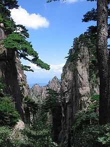 Mountains in Huangshan Province