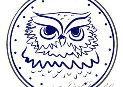 Athenas Shield Owl Sketch for the Owl Moot Childrens Book