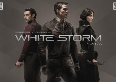 Giant White Storm Banner