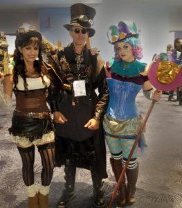 Steampunk Cosplay Trio at Wondercon 2018