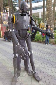Wondercon 2018 animatronic robot
