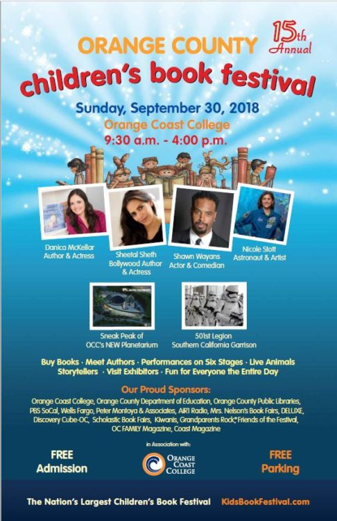 Family Fun at the Orange County Children's Book Festival 2018